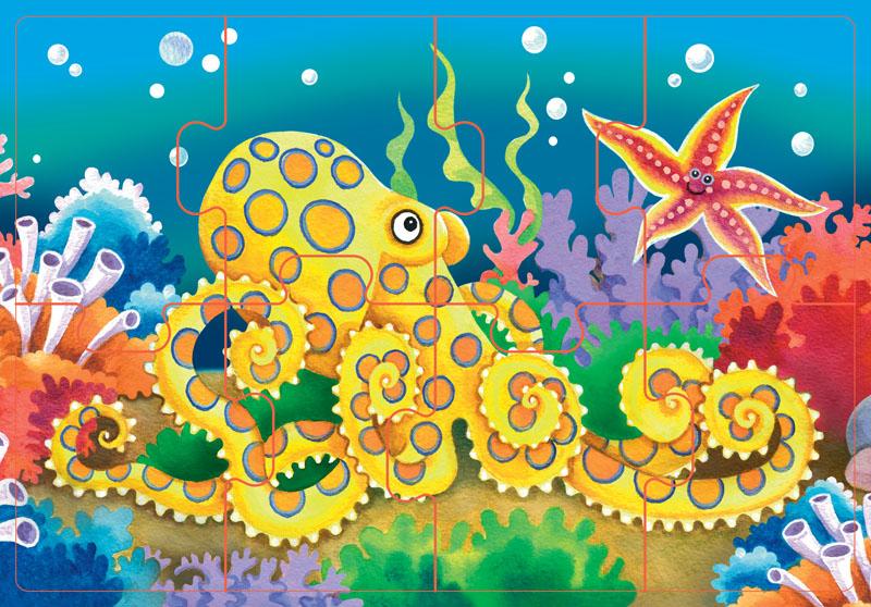 подводный мир открытку в дет сад рисунок чашу нарезанный лук